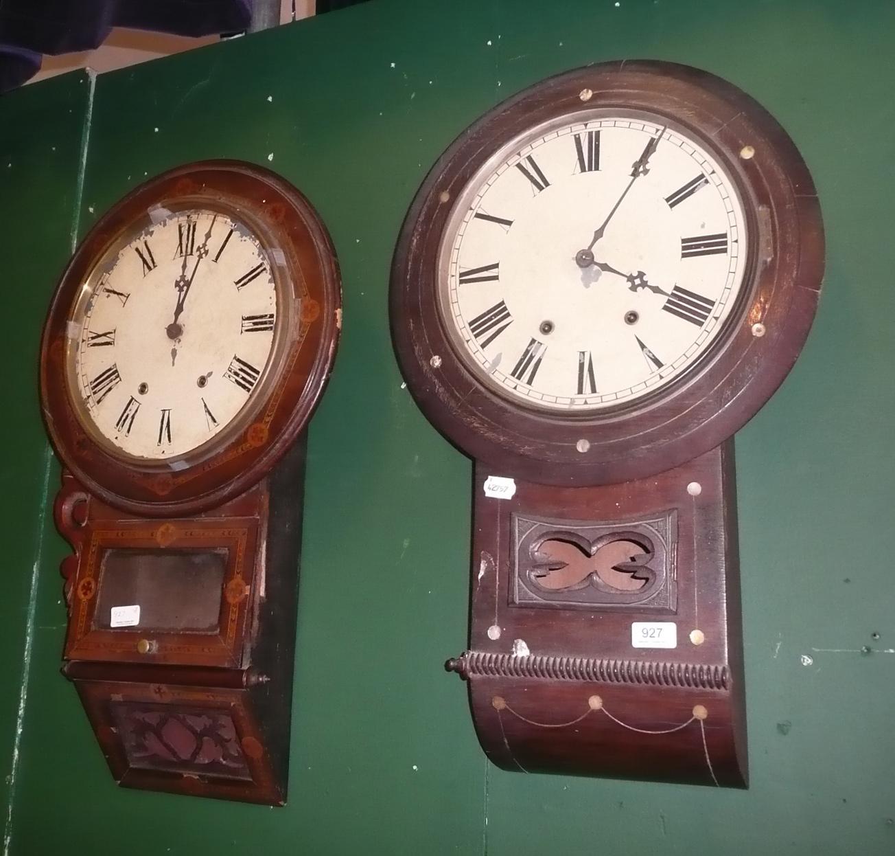 Tennants Auctioneers Two Striking Wall Clocks