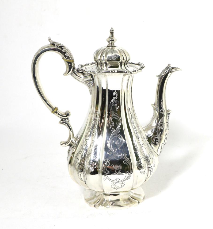 Tennants Auctioneers: An Early Victorian Silver Coffee Pot