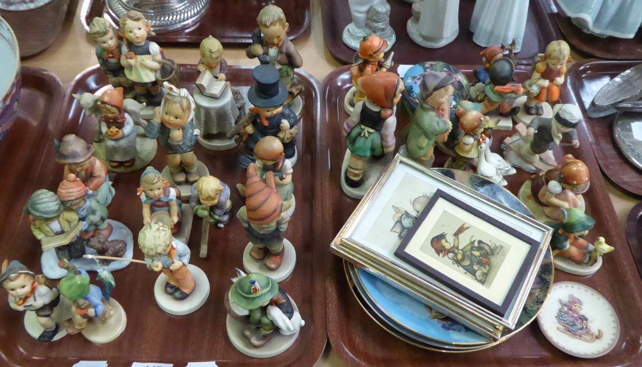 Tennants Auctioneers: A group of Hummel figures (two trays)
