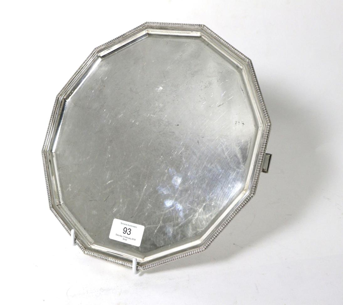 Tennants Auctioneers: An Art Deco Twelve Sided Silver Salver
