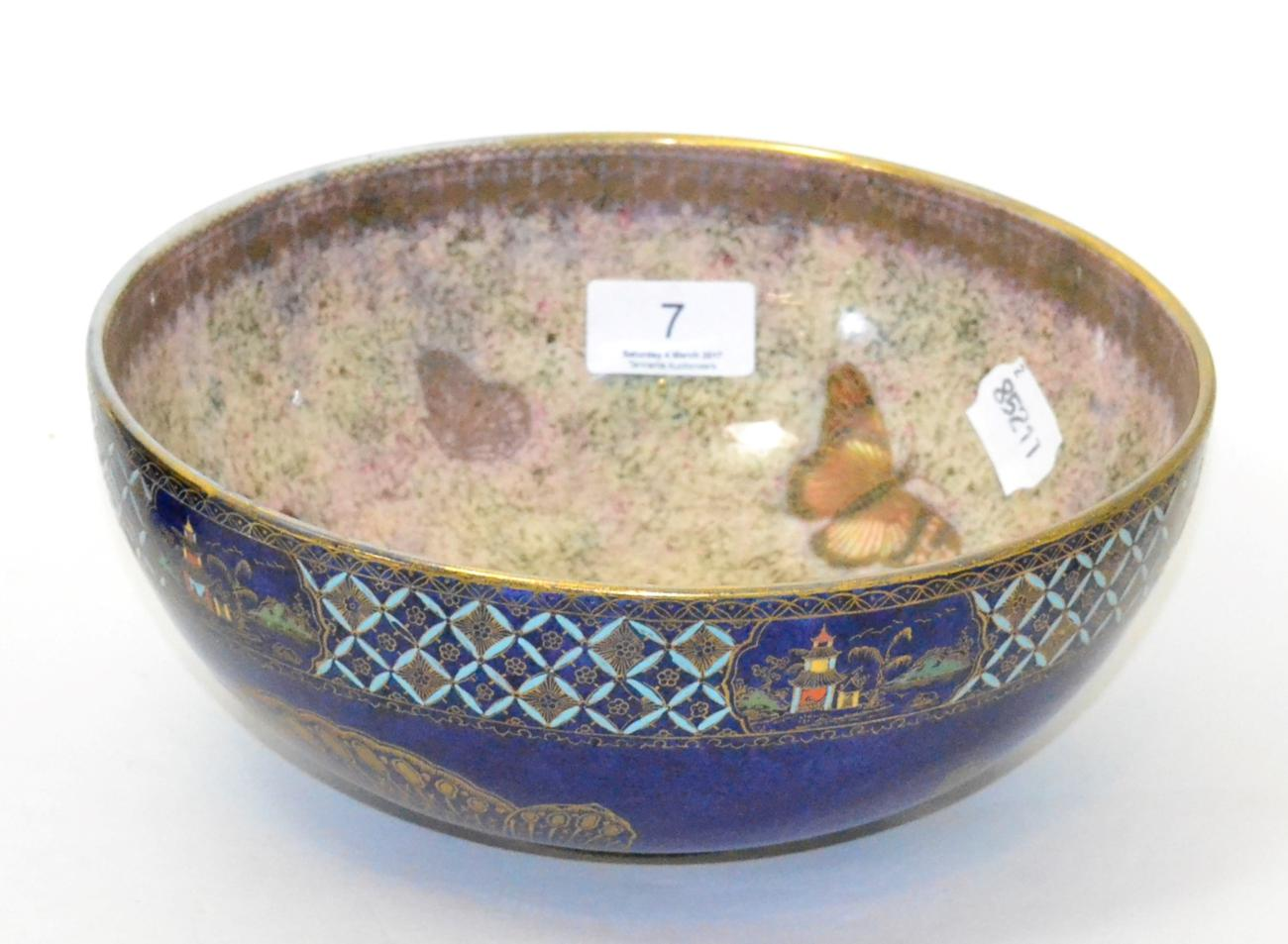 Tennants Auctioneers: Carltonware butterfly lustre bowl