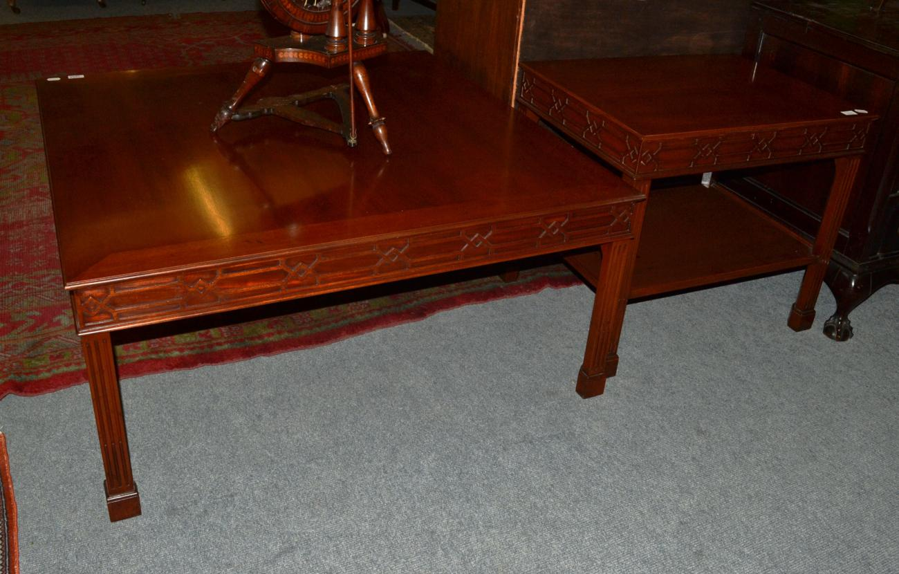 Tennants Auctioneers Two Reproduction Mahogany Coffee Tables