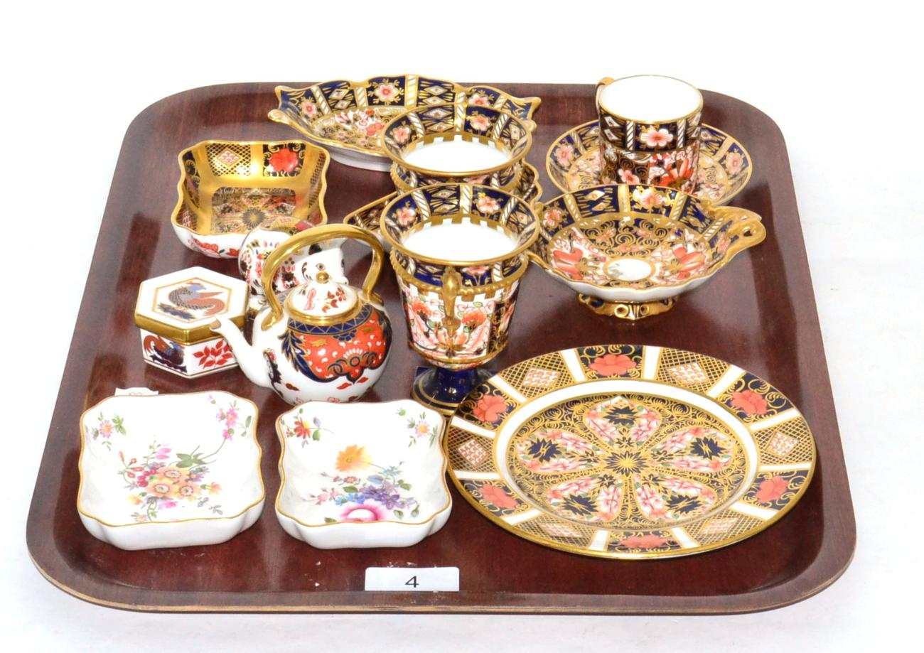 Tennants Auctioneers: A group of Royal Crown Derby Imari wares including dishes