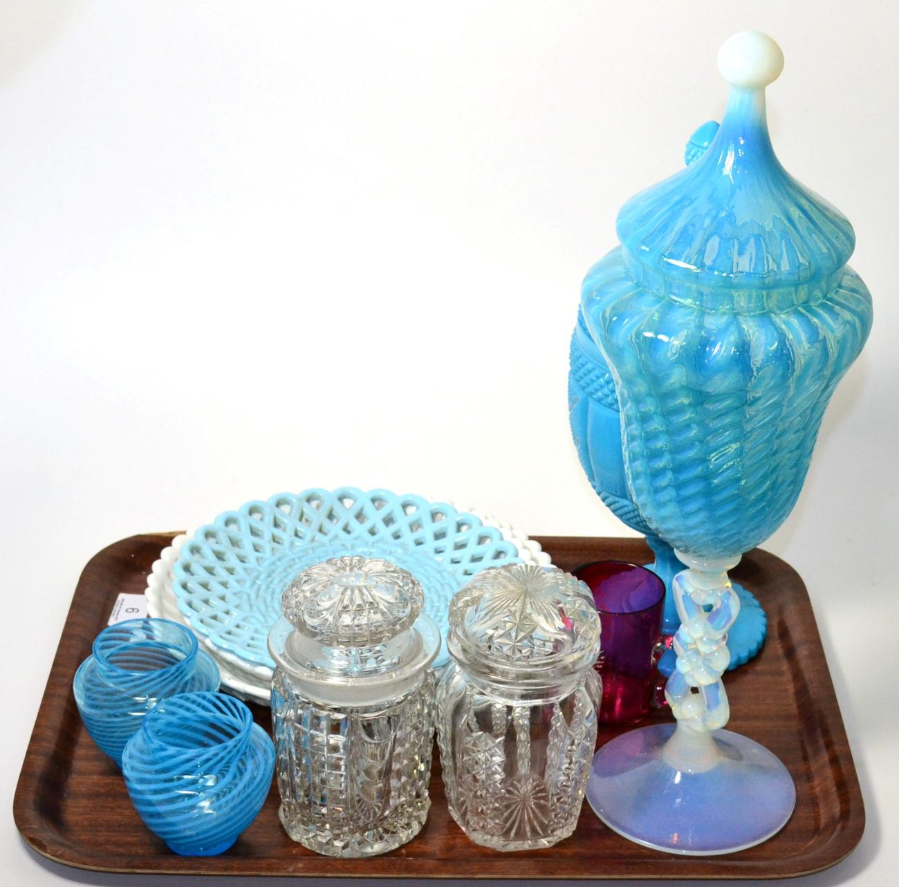 Tennants Auctioneers: Blue glassware including Vaseline and Sowerby