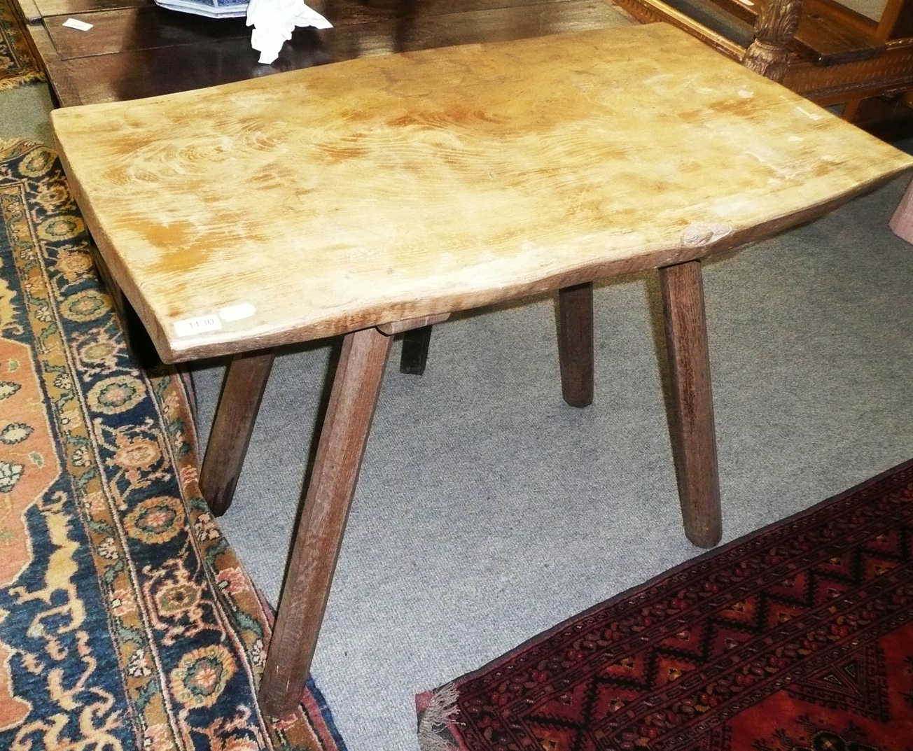 "Tennants Auctioneers: A Colin ""Beaverman"" Almack oak pub table"
