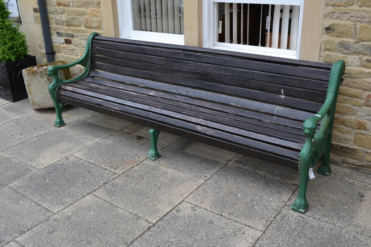 Tennants Auctioneers A Large Cast Iron Garden Bench