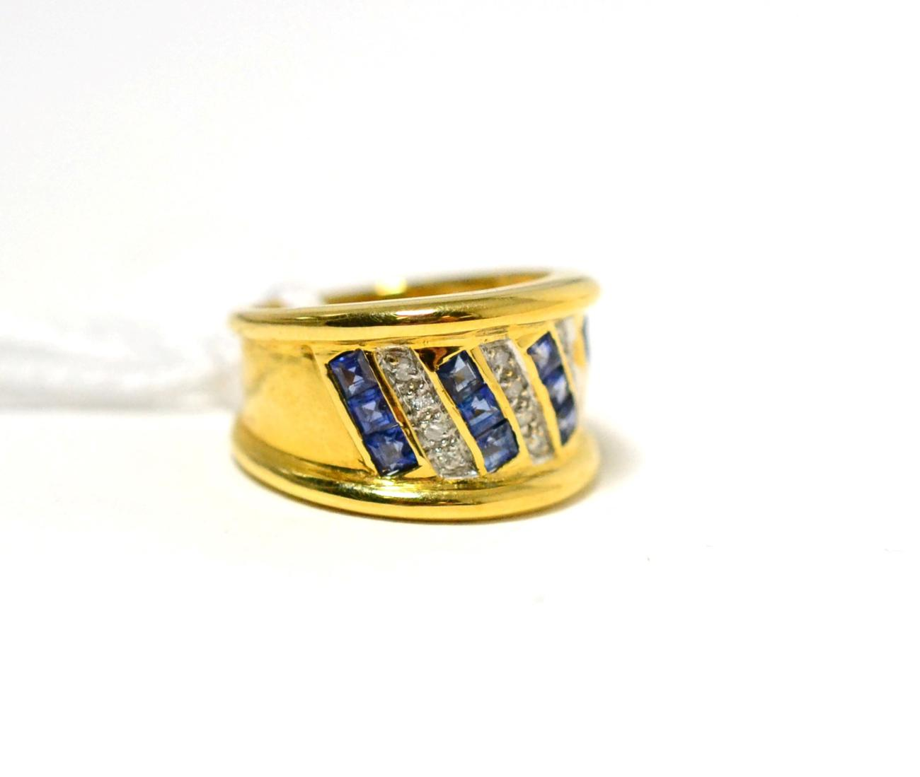 Tennants Auctioneers: A sapphire and diamond ring