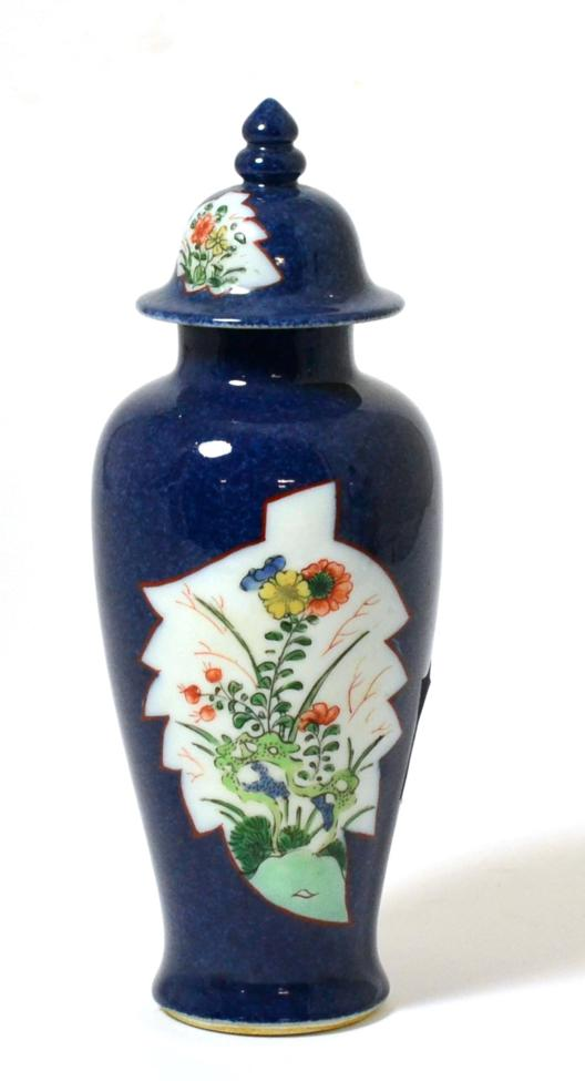 Tennants Auctioneers: A Chinese Porcelain Baluster Vase and Cover