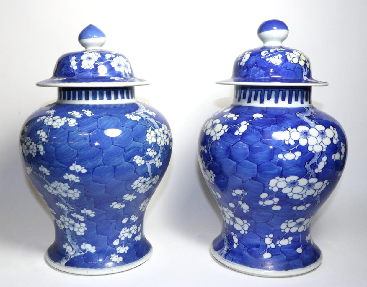 Tennants Auctioneers: A Matched Pair of Chinese Porcelain Baluster Jars and Covers