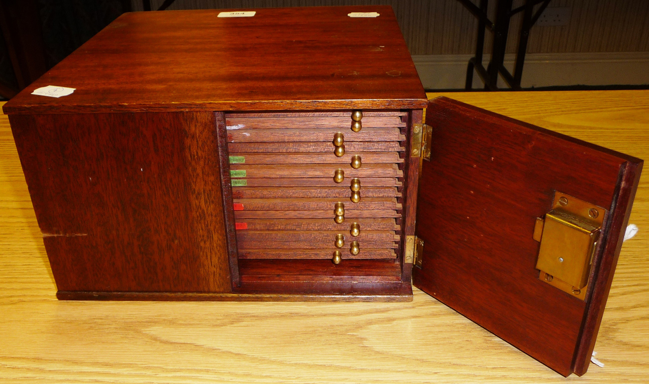 Tennants Auctioneers A Professionally Made Coin Cabinet