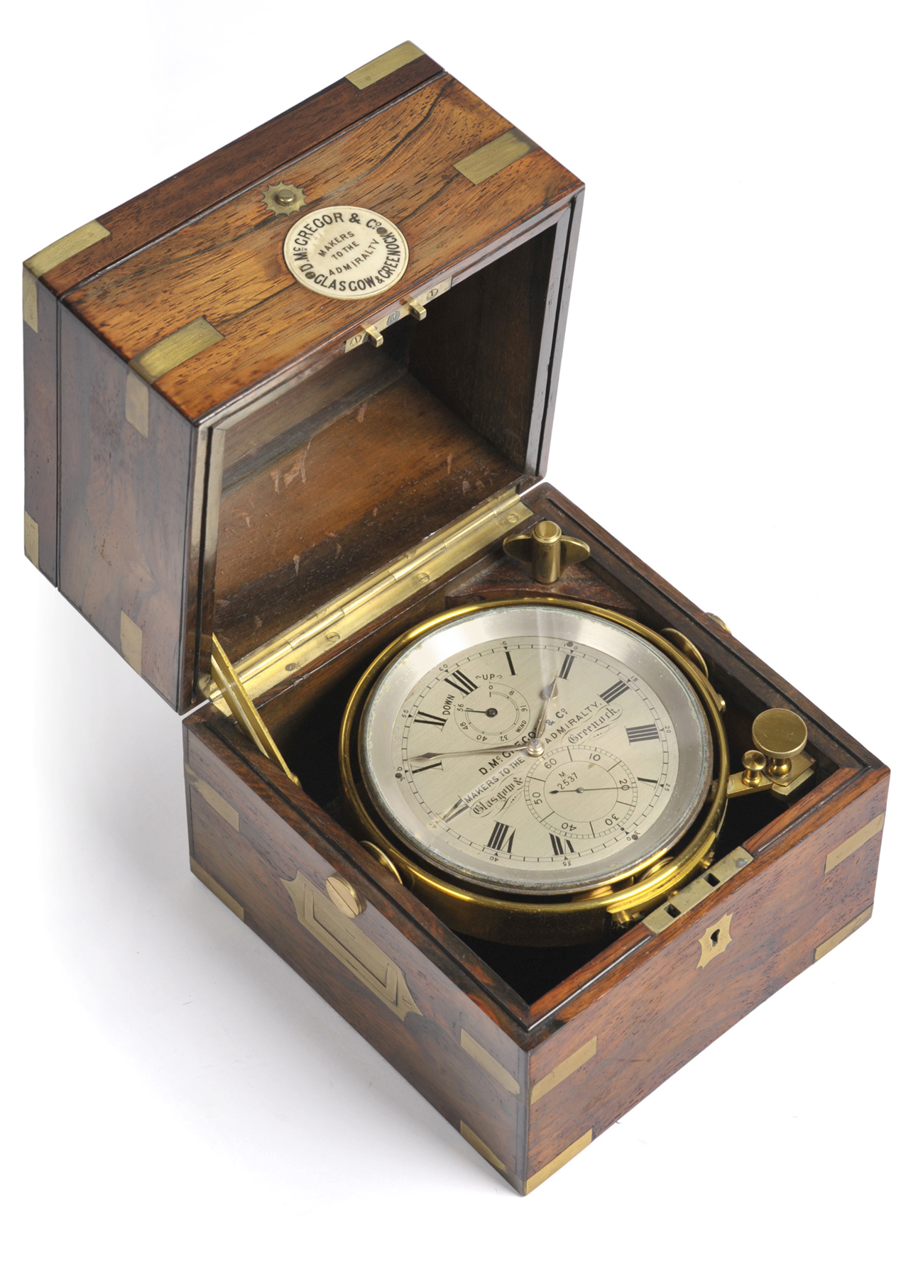 Tennants Auctioneers: A Rosewood and Brass Bound Two Day Marine Chronometer