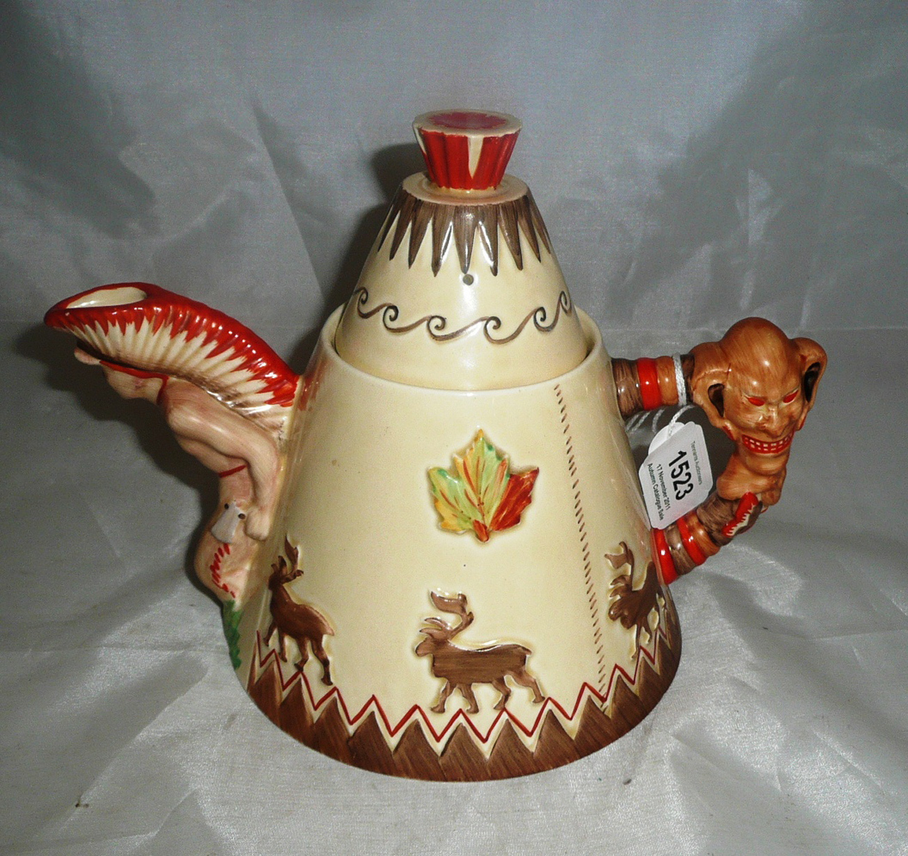 Tennants Auctioneers A Clarice Cliff Teepee Teapot And Cover