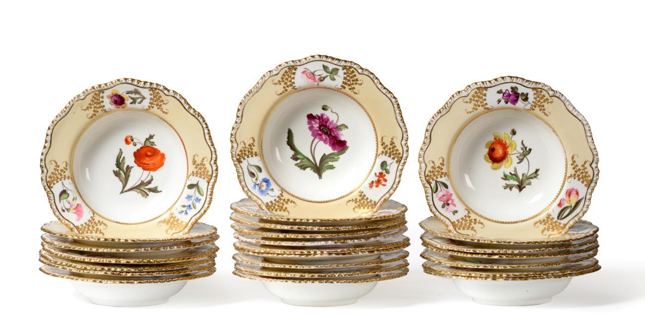 Tennants Auctioneers: A Set of Twenty-Four Coalport Porcelain Soup Plates