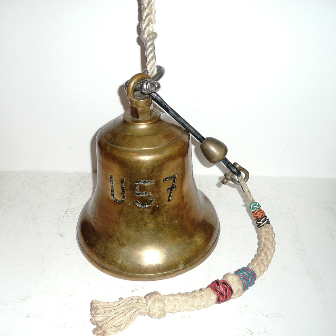 Tennants auctioneers a german brass bell from the u boat for Doorbell in german