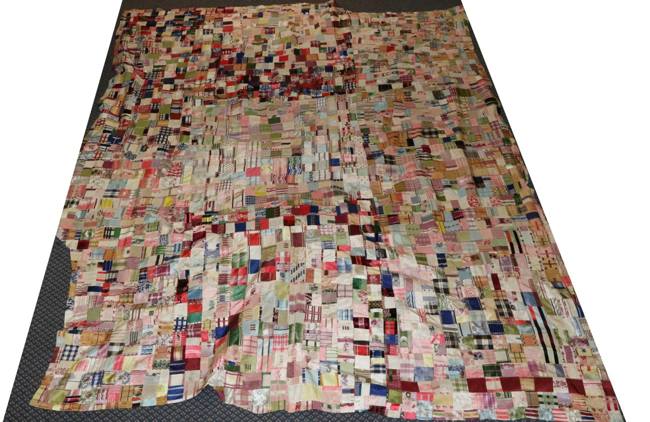 Tennants Auctioneers: An Unfinished Silk Patchwork Top